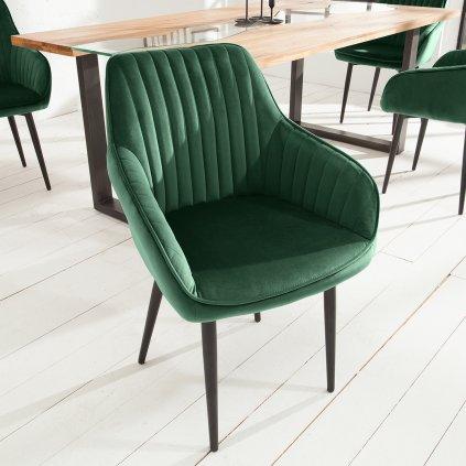 Jídelní židle Riverton - 2 kusy | zelená