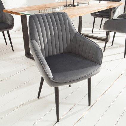 Jídelní židle Riverton - 2 kusy   šedá