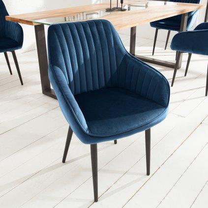 Jídelní židle Riverton - 2 kusy | modrá