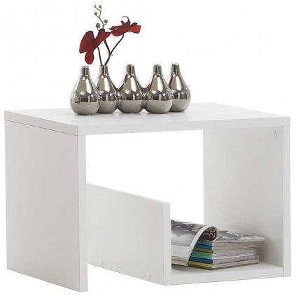 Konferenční stolek Engen - 2-v-1 - 59,1x35,8x37,8 cm | bílý