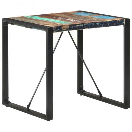 Jídelní stůl Tiburoon - 80x80x75 cm | masivní recyklované dřevo