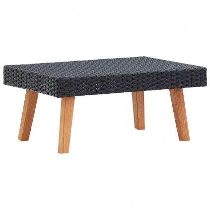 Zahradní konferenční stolek Wiener - polyratan | černý