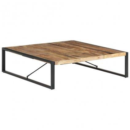 Konferenční stolek Heifer - 140x140x40 cm   hrubé mangovníkové dřevo
