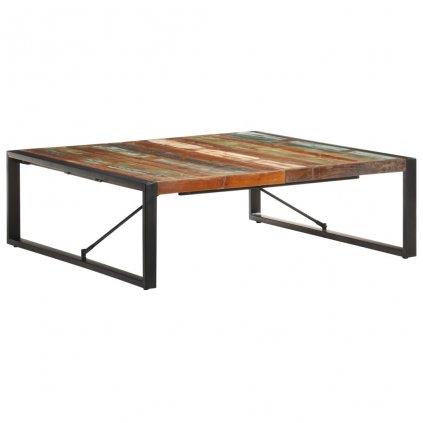 Konferenční stolek Heifer - 120x120x40 cm | masivní recyklované dřevo
