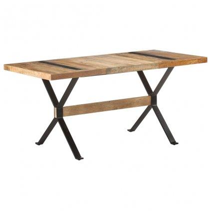 Jídelní stůl Islais - 160x80x76 cm | hrubé mangovníkové dřevo