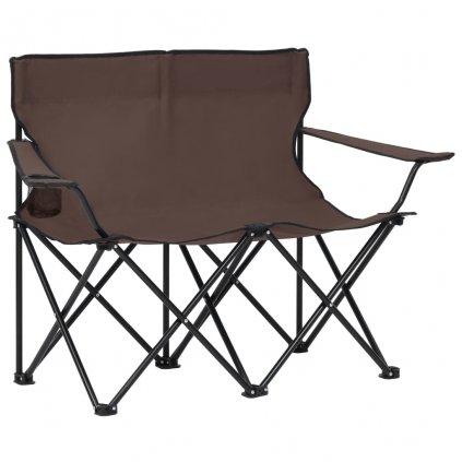 2-místná skládací kempingová sedačka Mvulle - ocel a textil | taupe