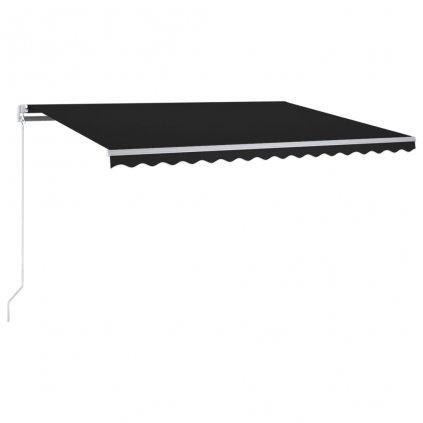 Automatická markýza Horess - LED a senzor větru - 300x250 cm | antracitová