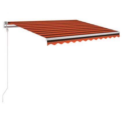 Automatická markýza Horess - LED a senzor větru - 300x250 cm | oranžovohnědá