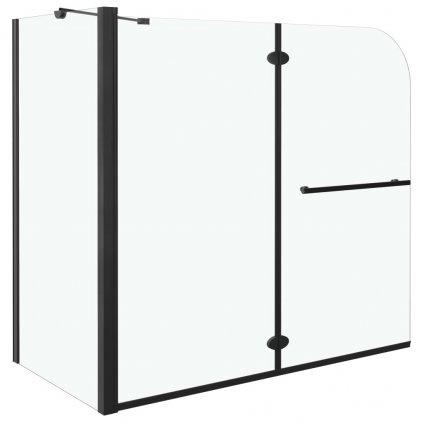 Skládací sprchový kout - ESG - 120x68x130 cm   černý