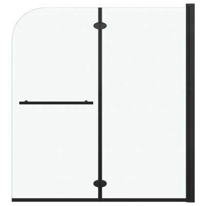 Skládací sprchový kout se 2 panely - ESG - 120x140 cm   černý