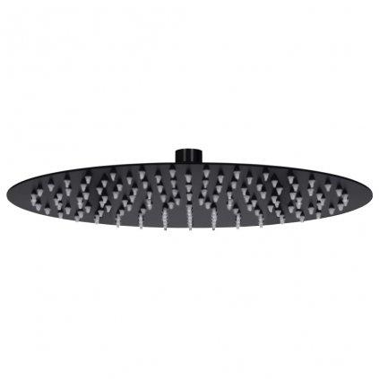 Dešťová sprchová hlavice - nerezová ocel - černá | 30 cm