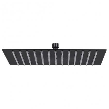 Dešťová sprchová hlavice - nerezová ocel - černá | 25x25 cm