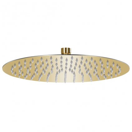 Dešťová sprchová hlavice - nerezová ocel - zlatá   30 cm