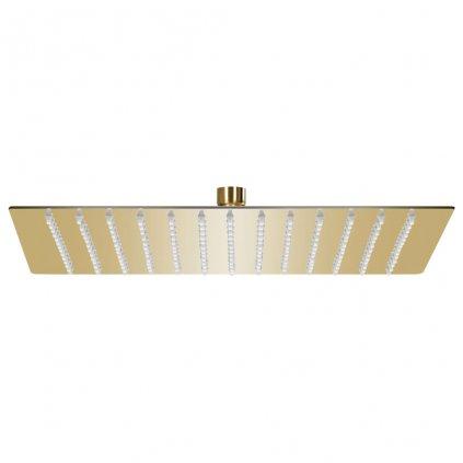 Dešťová sprchová hlavice - nerezová ocel - zlatá | 25x25 cm