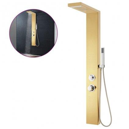 Panelový sprchový systém - nerezová ocel 201   zlatá