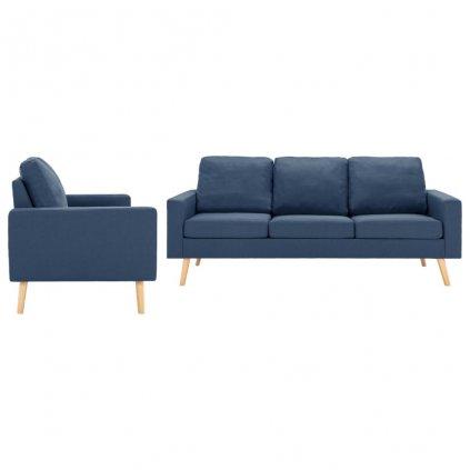 2-dílná sedací souprava Shawbury - textilní čalounění | modrá