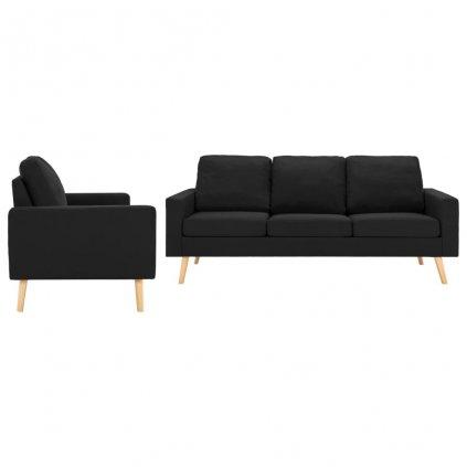 2-dílná sedací souprava Shawbury - textilní čalounění | černá