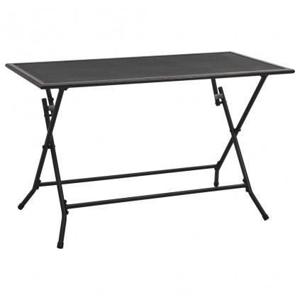 Skládací pletivový stůl Kerby - ocel - antracit   120 x 60 x 72 cm