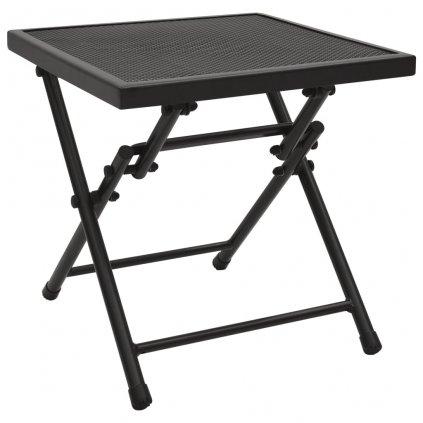 Skládací pletivový stůl Kerby - ocel - antracit   38 x 38 x 38 cm