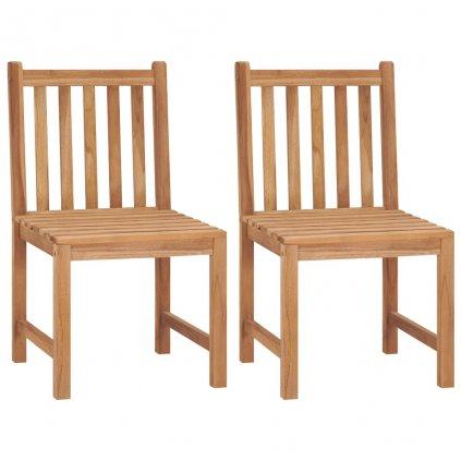 Zahradní židle Oroville - 2 ks   masivní teakové dřevo