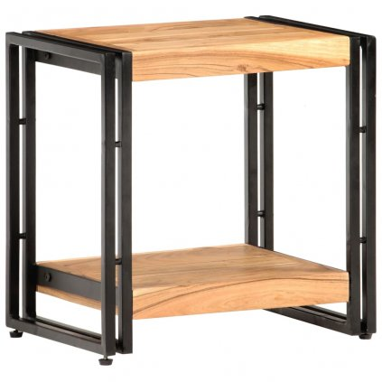 Odkládací stolek Purleigh - 40x30x40 cm   masivní akáciové dřevo