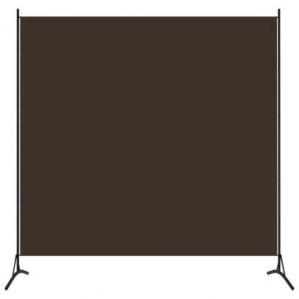1-dílný paraván Aoks - 175x180 cm | hnědý