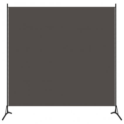 1-dílný paraván Corrs - 175x180 cm |  antracitový