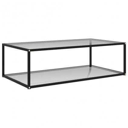 Čajový stolek Tiptree - průhledný - tvrzené sklo   120x60x35 cm