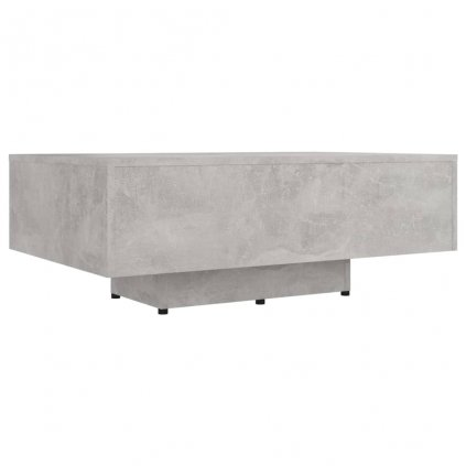 Konferenční stolek Corrse - dřevotříska - 85x55x31 cm | betonově šedý
