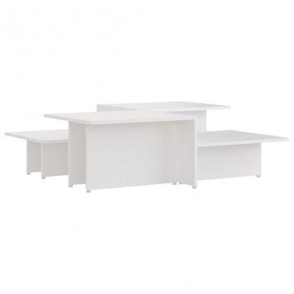 Konferenční stolky Kash - 2 ks - dřevotříska - 111,5x50x33 cm | bílé