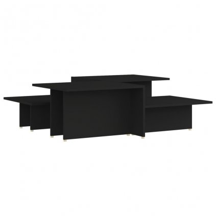 Konferenční stolky Kash - 2 ks - dřevotříska - 111,5x50x33 cm   černé