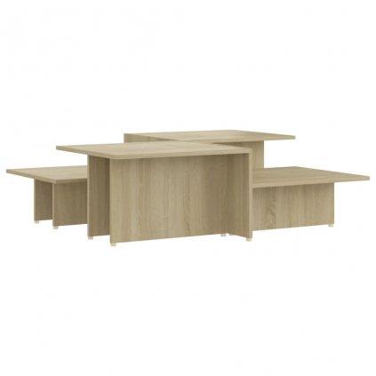 Konferenční stolky Kash - 2 ks - dřevotříska - 111,5x50x33 cm   dub sonoma