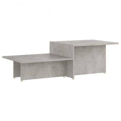 Konferenční stolek Kash - dřevotříska - 111,5x50x33 cm | betonově šedý