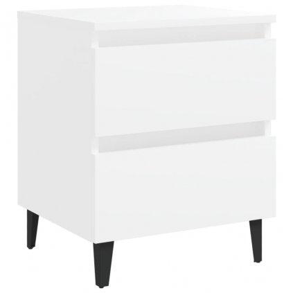 Noční stolek Brunati - dřevotříska - 40x35x50 cm | bílý