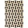 Moderní koberec s geometrickým vzorem -  béžovo-černý   180x280 cm