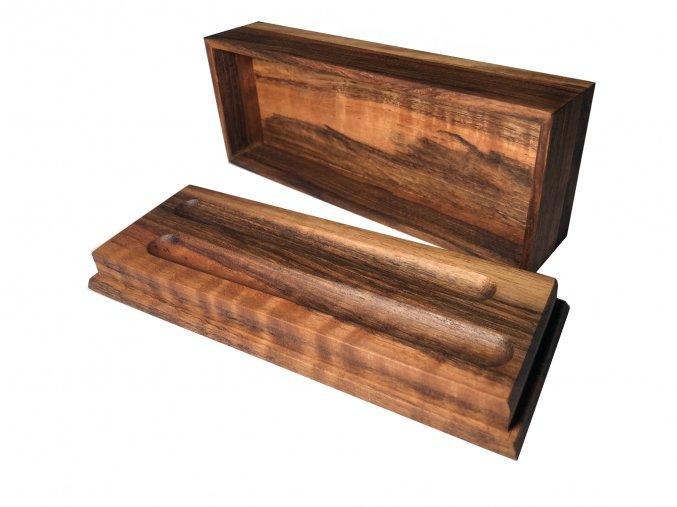 2v1 krabička na pera - ořech