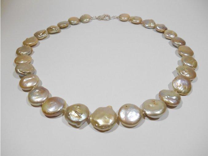 Zlatý perlový náhrdelník