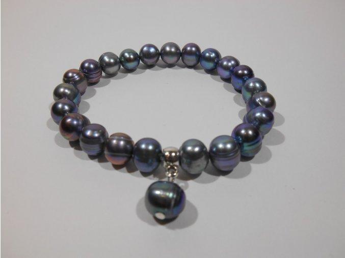 Náramek z modrozelených perel