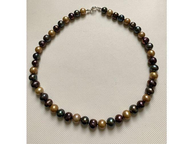 Náhrdelník z velkých barevných perel