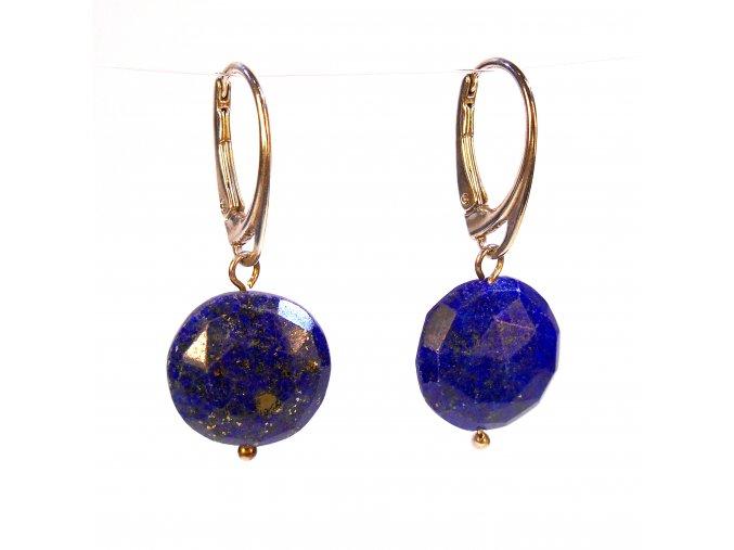 Náušnice broušený lapis lazuli