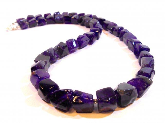 Ametyst náhrdelník