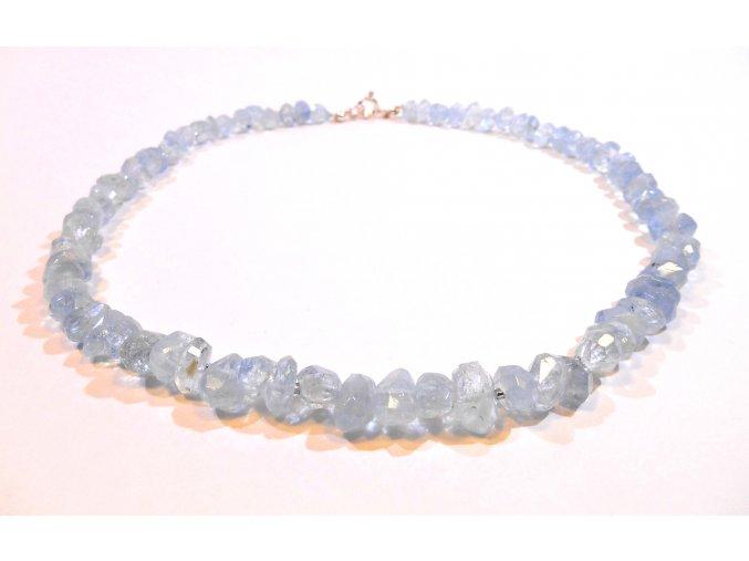 Akvamarínový náhrdelník luxusní