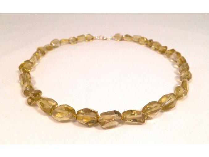 Citrínový náhrdelník broušený