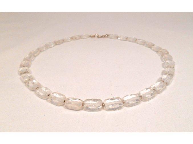 Křišťálový náhrdelník broušený