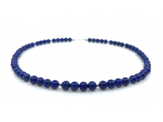 Náhrdelník lapis lazuli kuličky