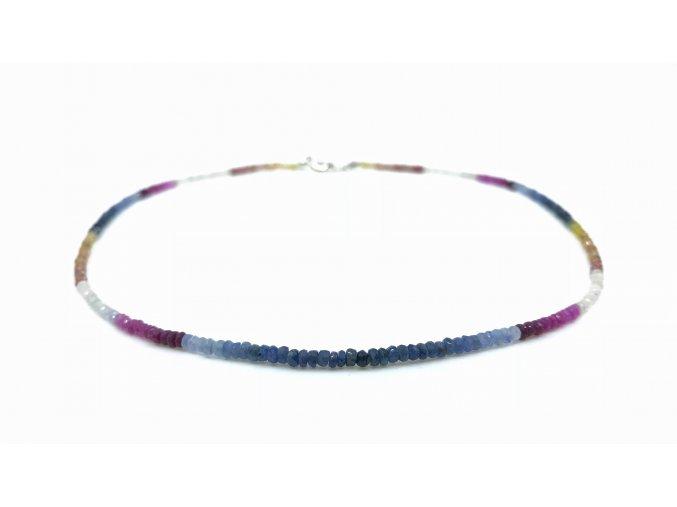 Safírový náhrdelník multicolor