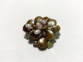 Brož mix barevných perel 1ks
