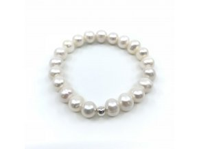 Náramek z bílých perel