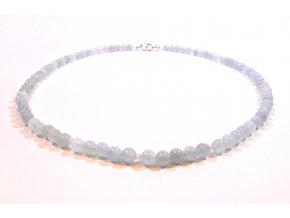 Akvamarínový náhrdelník kuličky