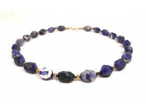Náhrdelník broušený lapis lazuli